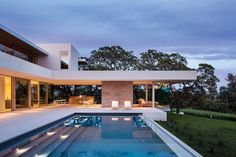 Modern Family Villa - The residence showcases a great indoor-outdoor connection
