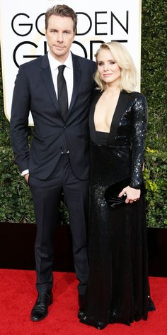 All the Glamorous Looks from the 2017 Golden Globes Red Carpet - Dax Shepard and Kristen Bell from InStyle.com
