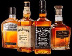 Veel soorten Jack Daniels