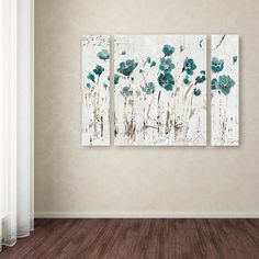"Trademark Fine Art 30 in. x 41 in. ""Abstract Balance VI Blue"" by Lisa Audit Printed Canvas Wall Art - The Home Depot Wall Art Sets, Wall Art Decor, Canvas Wall Art, Canvas Prints, Art Web, Floral Wall Art, Flower Wall, Fine Art, Teenage Daughters"