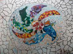 Autor :Manoli Tapias  Titulo:  Mosaico de Gaudi        Técnica: óleo lienzo a pincel y arena Medidas: 38 X 28   Soporte: Lienzo sobre bastidor madera  http://arttapias.blogspot.com.es/
