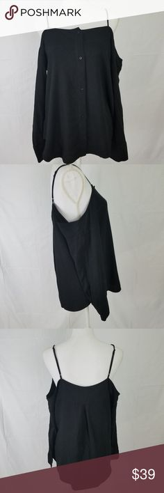 """Anthropologie Cloth & Stone Cold Shoulder Top NWOT New without tags Material: 100% Rayon Detail: Cold Shoulder, Button Front Top, Adjustable Straps Measurements: 24"""" length (shoulder to hem), 20"""" armpit to armpit A599 Anthropologie Tops Blouses"""