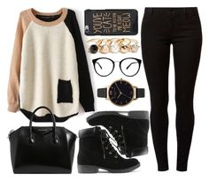 """""""Untitled #4203"""" by natalyasidunova ❤ liked on Polyvore featuring Dorothy Perkins, Givenchy, Olivia Burton and GUESS"""