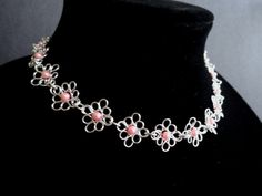 Flower necklace,   by IrisJewelryCreations