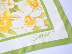 Daffodil Floral Scarf Waterproof Sunny Citrus by CandyAppleCrafts, $10.00