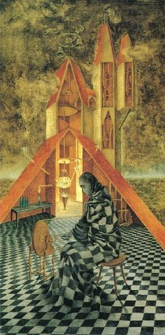 Remedios Varo, Ciencia Inútil o el Alquimista / Useless Science or the Alchemist