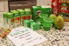 A green St. Patrick's Day school lunch for the kids  |  find joy in the journey