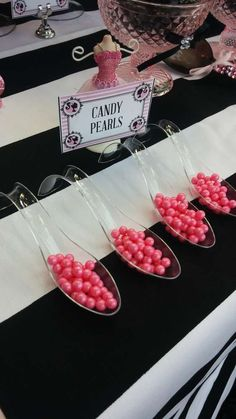 Vintage Barbie girl Birthday Party candy! See more party ideas at CatchMyParty.com!
