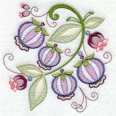 Machine Embroidery Designs at Embroidery Library! - Jacobean Vintage Fruit