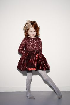 My Little Dress Up  - Clemence lace blouse & Rose lurex skirt an interesting combination for little party girls fashion