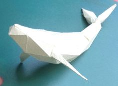 Animal Paper Model - Simple Low Poly Whale Free Template Download - http://www.papercraftsquare.com/animal-paper-model-simple-low-poly-whale-free-template-download.html#AnimalPaperModel, #LowPoly, #Whale