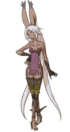 Viera Class Art - Final Fantasy Tactics Grimoire of the Rift Art Gallery Viera Final Fantasy, Final Fantasy Tactics A2, Final Fantasy Xii, Final Fantasy Artwork, Final Fantasy Characters, Fantasy Races, Anime Characters, Fantasy Character Design, Character Inspiration