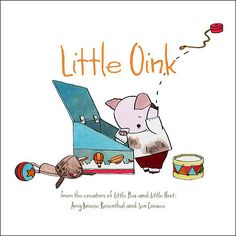 Angela Kinsey and her daughter love reading Little Oink books together.