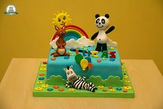 Panda e os Caricas Bolo Panda, Rottweiler Funny, Panda Cakes, 3rd Birthday, Party Themes, Cake Design, Baby Shower, Gabriel, Panda Themed Party