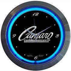 Camaro Neon Clock