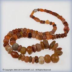 Ancient Carnelian Agate Beads Quartz Strand Mali Africa | eBay