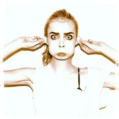 Cara Delevingne making a beautiful face and proving that beauty is the eye of the beholder