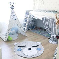 Unser Wölkchen Tipi bei der lieben @bububytati ☁️✨ soo schön sieht es bei ihr im Kinderzimmer aus 😍 #tipi #tipizelt #teepee #kinderzimmer #meintipi