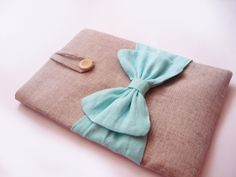 Blue Bow iPad Case
