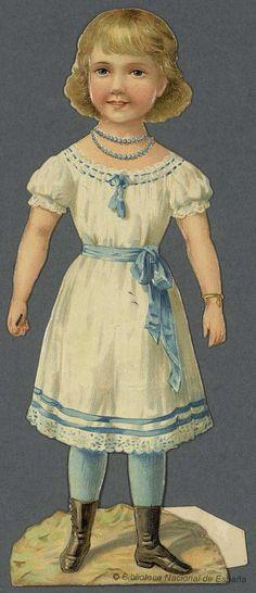 Madeleine et Léon avec leurs costumes au grand complet. Grabado — 1890-1910?