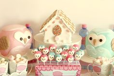 Beautiful owl dessert table #owl #desserttable