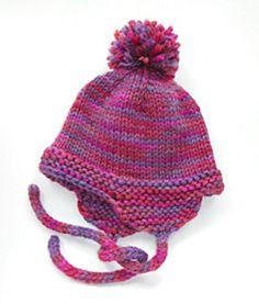 Child's Earflap Hat by Christine Jacobson - Published by solstice - Available on Ravelry & our website at: http://www.dublinbay.net/cgi-bin/commerce.cgi?preadd=action&key=6562