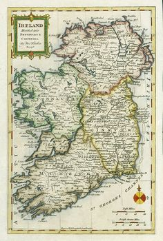 Free stock images for genealogists and ancestry researchers offering scans of old and antique prints and maps for family history research Antique Maps, Antique Prints, Big And Beautiful, Beautiful World, Irish Dinner, Erin Go Braugh, Celtic Pride, Ireland Map