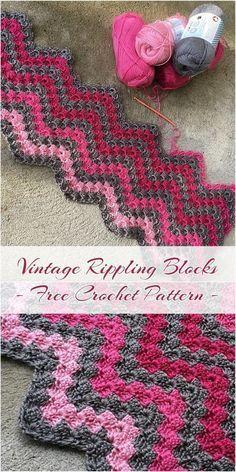 Vintage Rippling Blocks - Free Crochet Pattern