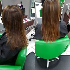 Color and Brazilian blowout #matrix #socolor #byefrizzhelloshine #smoothhair #beforeandafter #brazilianblowout #cremecolourlounge #hairbyrachel by _hairbyrachel http://shearindulgencespansalon.com/