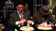 The E Family at the Toca Percussion Booth (NAMM 2013) Sheila E, Percussion, Drums, Youtube, Congas, Musica, Drum, Youtubers, Drum Kit