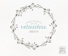 Watercolor wreath: hand painted floral wreath clipart / Wedding invitation clip art / commercial use / - 植物 - Watercolor Paper Texture, Wreath Watercolor, Floral Watercolor, Watercolor Wedding, Fun Wedding Invitations, Wedding Cards, Watercolor Clipart, Modern Wedding Stationery, Floral Illustrations
