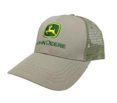John Deere Khaki with Green Logo Mesh Back