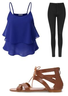 """""""going out"""" by hannahmartle on Polyvore featuring Doublju and Topshop"""