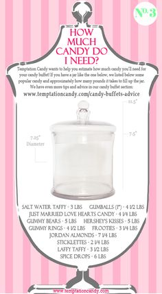 Planning a candy buffet? Hopefully if you have a jar like the one in this image…