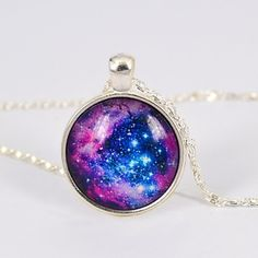 kvinders galakse stjerne tid ædelsten halskæde – DKK kr. 23