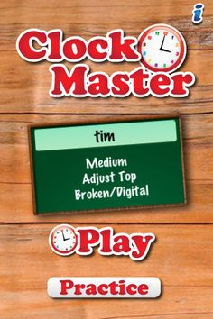 MathTappers:ClockMaster-math game to help children learn to read clocks ($0.00) MathTappers: Clockmaster is a game to help children make the connection between hours and minutes and to help them become fluent in both reading and setting time on digital and analog clocks.