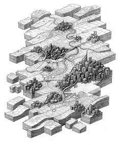 Las ciudades y paisajes dibujadas a lápiz de Mathew Borrett