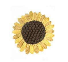 Sunflower Dishcloth Pattern