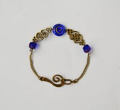 Handmade bracelet with Czech Beads Vintage Style