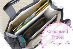 simply organized: organized travel: carry-on bag