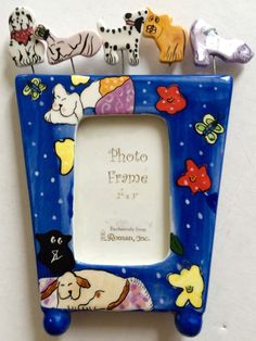 Picture frame for your puppies gift for dog lover from GiosGems on etsy