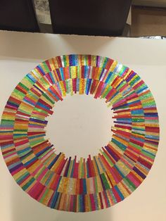 Forming art work from recycled confectionery and chocolate wrappers. Rowntrees Fruit Pastilles, Modern Art, Contemporary Art, Quality Street, Square Art, Collage Artists, Confectionery, Recycling, Abstract Art
