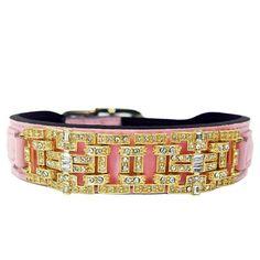 Sweet Pink Haute Couture Art Deco Designer Dog Collars, Crown Jewels, Dog Accessories, Swarovski Crystals, Art Deco, Sweet, Pink, Fashion, Haute Couture