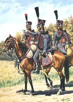Trompette de Hussards du 3ème Régiment vers 1808