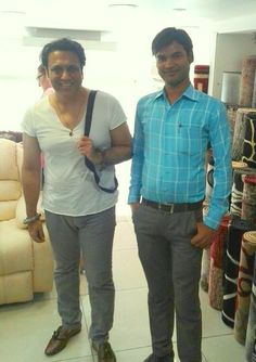 Last weekend, Megastar of #bollywood  Govinda visited our #Mumbai #showroom at #Enspire, Moti Lal Nagar, #Goregaon.