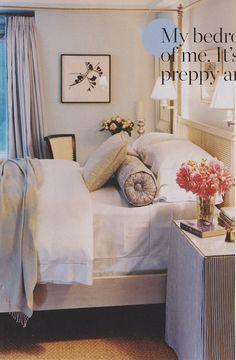 Feminine bedroom, simple artwork