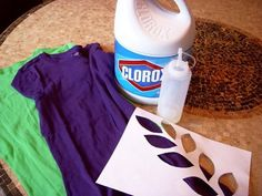 Bleach Stenciling T Shirt Project Space Hack, Reuse Old Clothes, Ancient Beauty, Tie Dye Patterns, Old T Shirts, Stenciling, Bleach, Easy, Craft Projects