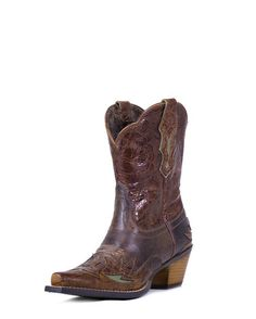 Women's Dahlia Boot - Dainty Brown/Cognac Floral.....it's Mothers Day coming soon!