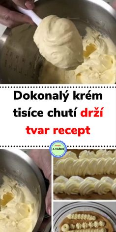 Dokonalý krém tisíce chutí drží tvar recept Slovak Recipes, Czech Recipes, Cooking Tips, Cooking Recipes, Cheesecake, Deserts, Food And Drink, Sweets, Cream