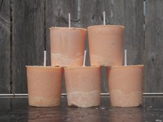 Honeysuckle and Gardenia scented candles peachy by CrochetByMel, $11.25